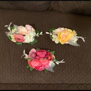 3 Floral Nylon Headbands for Baby & Toddler